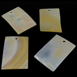 Natural Yellow Shell Pendants Rectangle yellow 26x40x1.5-2mm Hole:Approx 3mm 20PCs/Bag