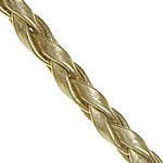 Leather Cord PU gold 3mm Length:100