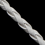 Leather Cord PU white 3mm Length:100 Yard
