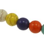 Turkusowe koraliki, Turkus syntetyczny, Koło, mieszane kolory, 6mm, otwór:około 1mm, 66komputery/Strand, sprzedawane na około 15 cal Strand