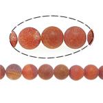 Natuurlijke Effloresce Agaat kralen, Ronde, rood, 16mm, Gat:Ca 2mm, Lengte:Ca 15.5 inch, 5strengen/Lot, Verkocht door Lot