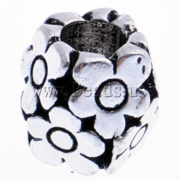 Zinc Alloy European Beads, Drum, without troll, nickel, lead & cadmium free, 10x10mm, Hole:Approx 5mm, 10PCs/Bag, Sold by Bag