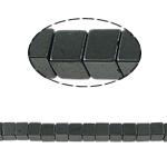 Niemagnetyczne koraliki z hematytu, Hematyt niemagnetyczny, Kostka, czarny, gatunek, 4x4mm, otwór:około 1mm, długość:15.5 cal, 10nici/wiele, sprzedane przez wiele