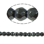 Magnetic Hematite Beads, Round, black, Grade A, 3x3mm, Hole:Approx 1mm, Length:15.5 Inch, 10Strands/Lot, Sold By Lot