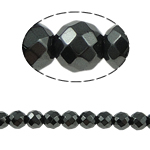 Magnetic Hematite Beads, Round, black, Grade A, 8x8mm, Hole:Approx 1.5mm, Length:15.5 Inch, 10Strands/Lot, Sold By Lot