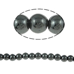 Magnetic Hematite Beads, 5mm, Hole:Approx 1.5mm, Length:15.5 Inch, 10Strands/Lot, Sold by Lot