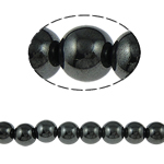 Magnetic Hematite Beads, Round, black, A Grade, 10mm, Hole:Approx 2mm, Length:15.5 Inch, 10Strands/Lot, Sold By Lot