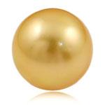 Koraliki z pereł hodowlanych słodkowodnych bez otworu, Perła naturalna słodkowodna, Koło, złoty, 14mm, sprzedane przez PC