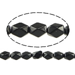 Natural Black Stone Beads, Oval, faceted, 13x10x8mm, Hole:Approx 1mm, Approx 32PCs/Strand, Sold Per Approx 15.5 Inch Strand