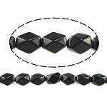 Black Stone Beads, Ovaal, natuurlijk, gefacetteerde, 13x10x8mm, Gat:Ca 1mm, Ca 32pC's/Strand, Per verkocht Ca 15.5 inch Strand