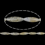 البطيخ الخرز الزجاج, البطيخ الأصفر, بيضوي, طبيعي, 40x12mm, حفرة:تقريبا 2.5mm, طول:تقريبا 15.5 بوصة, تقريبا 10جدائل/الكثير, تباع بواسطة الكثير