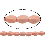 Coral Beads Twist pink 10x6mm Hole:Approx 1mm Approx 38PCs/Strand Sold Per Approx 15 Inch Strand