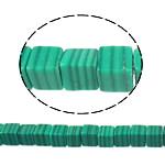Malakit perler, Cube, naturlig, 4x4x4mm, Hole:Ca. 1mm, Ca. 120pc'er/Strand, Solgt Per Ca. 16 inch Strand