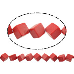 Coral Beads Cube red 10x10x10mm Hole:Approx 1.5mm Approx 28PCs/Strand Sold Per Approx 15 Inch Strand