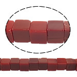 Natural Jade Beads, Jade Red, Cube, 10x10x10mm, Hole:Approx 1.5mm, Length:Approx 15 Inch, Approx 38Strands/Lot, Sold By Lot