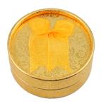 Kartonowe pudełko na zestaw biżuterii, Tektura, Pierścień & kolczyk, ze Welwet, Płaskie koło, złoto, 85x38mm, 12komputery/torba, sprzedane przez torba