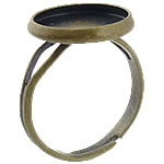 Brass Bezel Ring Base, antique bronze color plated, adjustable, lead & cadmium free, 14x14x2mm, 12x12mm, Hole:Approx 17mm, Inner Diameter:Approx 12mm, US Ring Size:6.5, 500PCs/Bag, Sold By Bag