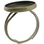 Brass Bezel Ring Base, antique bronze color plated, adjustable, lead & cadmium free, 16x16x2mm, 14x14mm, Hole:Approx 17mm, Inner Diameter:Approx 14mm, US Ring Size:5.5, 500PCs/Bag, Sold By Bag