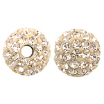 Czech Rhinestone Beads Clay Pave Round with 75 pcs rhinestone   with Czech rhinestone 8mm Hole:Approx 2mm 10PCs/Bag