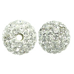 Czech Rhinestone Beads Clay Pave Round with 99 pcs rhinestone   with Czech rhinestone 10mm Hole:Approx 1mm 10PCs/Bag