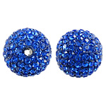 Czech Rhinestone Beads Clay Pave Round with 99 pcs rhinestone   with Czech rhinestone 10mm Hole:Approx 2mm 10PCs/Bag