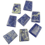 Natural Sodalite Pendants, Trapezium, 25x30-31x7mm, Hole:Approx 2.5mm, 10PCs/Bag, Sold by Bag