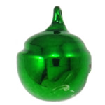 Brass Bell Pendant, painted, green, nickel, lead & cadmium free, 15x12mm, Hole:Approx 2mm, 1000PCs/Bag, Sold By Bag