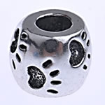 Zinc Alloy European Beads, Drum, without troll, nickel, lead & cadmium free, 10.50x8.50mm, Hole:Approx 4.8mm, Sold By PC