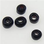 Matowe szklane koraliki, Koraliki szklane, Okrąg, oszroniony, czarny, 2x1.90mm, otwór:około 1mm, sprzedane przez torba
