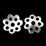 Iron Bead Caps, Flower, 7-petals, silver color, nickel, lead & cadmium free, 8x1.5mm, Hole:Approx 1.5mm, 10000PCs/Bag, Sold by Bag