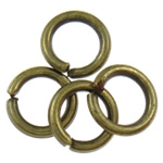 Iron Closed Jump Ring, 1x6mm, Hole:Approx 4mm, approx 16666PCs/Bag, Sold by Bag