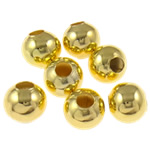 Iron Jewelry Beads, Round, gold color plated, different size for choice, nickel, lead & cadmium free, Sold By Bag