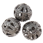 Iron Jewelry Beads, Round, plumbum black color plated, nickel, lead & cadmium free, 6mm, Hole:Approx 0.7mm, Approx 500PCs/Bag, Sold By Bag