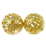 Żelazne koraliki, żelazo, Koło, Platerowane w kolorze złota, różnej wielkości do wyboru, bez zawartości niklu, ołowiu i kadmu, otwór:około 1mm, sprzedane przez torba