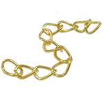 Żelazne przedłużenie łańcuszka, żelazo, Owal, Platerowane w kolorze złota, bez zawartości niklu, ołowiu i kadmu, 3.50x5.50x0.60mm, długość:2 cal, około 200nici/torba, sprzedane przez torba