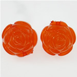 Clearance Acrylic Beads, Flower, jelly style, red, 19.50x17mm, Hole:Approx 2.4mm, 182PCs/Bag, Sold By Bag