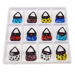 Fashion Lampwork Pendants, Handbag, mixed colors, 46.50x31x14mm, Hole:Approx 17x14mm, 12PCs/Box, Sold By Box