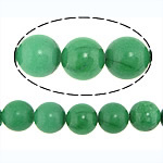 Natural Jade Beads, Jade Malaysia, Round, green, 16mm, Hole:Approx 1.2-1.4mm, Approx 23PCs/Strand, Sold Per Approx 15 Inch Strand