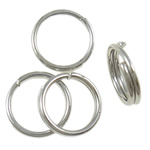 Iron Split Ring, 6x1mm, Hole:Approx 4.7mm, approx 13330PCs/Bag, Sold by Bag
