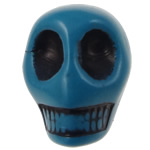 Antique Acrylic Beads, Skull, opaque, Imitation Antique, blue, 12.50x10x12mm, Hole:Approx 2mm, 595PCs/Bag, Sold By Bag