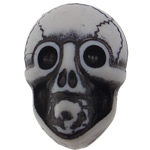 Antique Acrylic Beads, Skull, opaque, Imitation Antique, white, 19x14x11mm, Hole:Approx 2.5mm, 330PCs/Bag, Sold By Bag