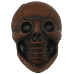 Antique Acrylic Beads, Skull, opaque, Imitation Antique, brown, 25.50x17.50x14mm, Hole:Approx 2.5mm, 150PCs/Bag, Sold By Bag