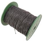 Żelazny drut na pętli, żelazo, Owal, Platerowane plombem w czarnym kolorze, bez zawartości niklu, ołowiu i kadmu, 2.50x3.50x0.60mm, długość:100 m, sprzedane przez PC