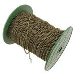 Żelazny drut na pętli, żelazo, Owal, Platerowane kolorem starego brązu, bez zawartości niklu, ołowiu i kadmu, 2.50x3.50x0.60mm, długość:100 m, sprzedane przez PC