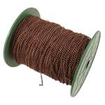 Żelazny drut na pętli, żelazo, Owal, Platerowane kolorem starej miedzi, bez zawartości niklu, ołowiu i kadmu, 2.50x3.50x0.60mm, długość:100 m, sprzedane przez PC