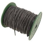 Żelazny drut na pętli, żelazo, Owal, Platerowane plombem w czarnym kolorze, bez zawartości niklu, ołowiu i kadmu, 3.80x4.80x1mm, długość:50 m