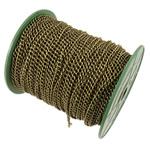 Żelazny drut na pętli, żelazo, Owal, Platerowane kolorem starego brązu, bez zawartości niklu, ołowiu i kadmu, 4x5.80x1mm, długość:50 m, sprzedane przez PC