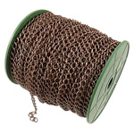 Iron Rhombus Chain, antique copper color plated, nickel, lead & cadmium free, 7.40x8.40x1.20mm, Length:50 m