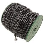 Żelazny drut na pętli, żelazo, Owal, Platerowane plombem w czarnym kolorze, bez zawartości niklu, ołowiu i kadmu, 8.20x9.90x1.80mm, długość:25 m
