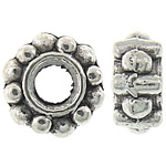 Zinc Alloy Spacer Beads, Rondelle, antique silver color plated, nickel, lead & cadmium free, 6.50x3mm, Hole:Approx 3mm, Approx 2500PCs/KG, Sold By KG
